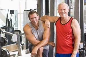 Men At The Gym Together